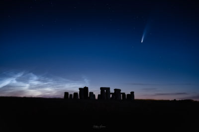 Comet Neowise Above Stonehenge