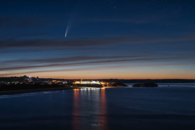 Tenby with comet Neowise