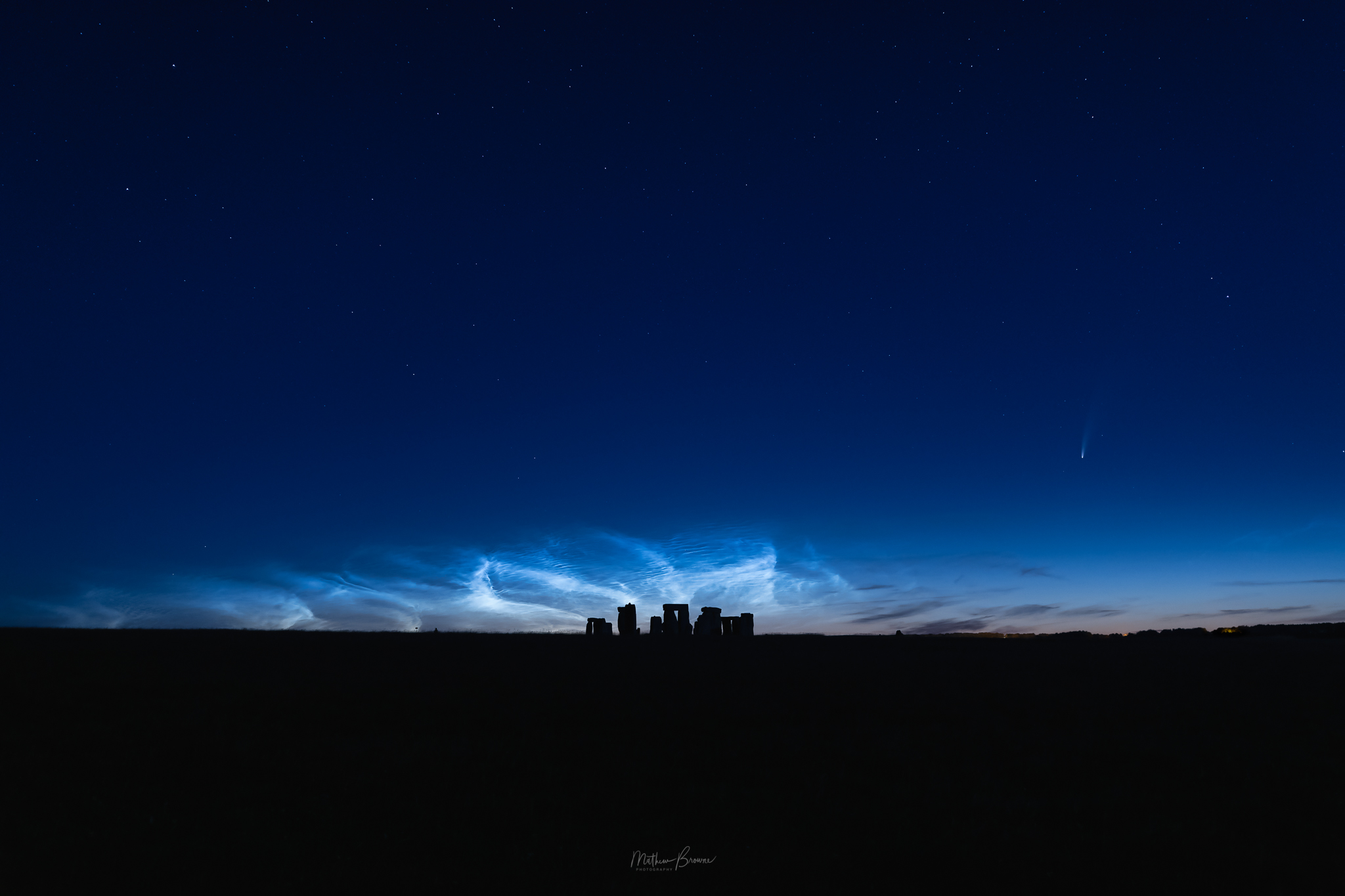 Stonehenge with comet NEOWISE